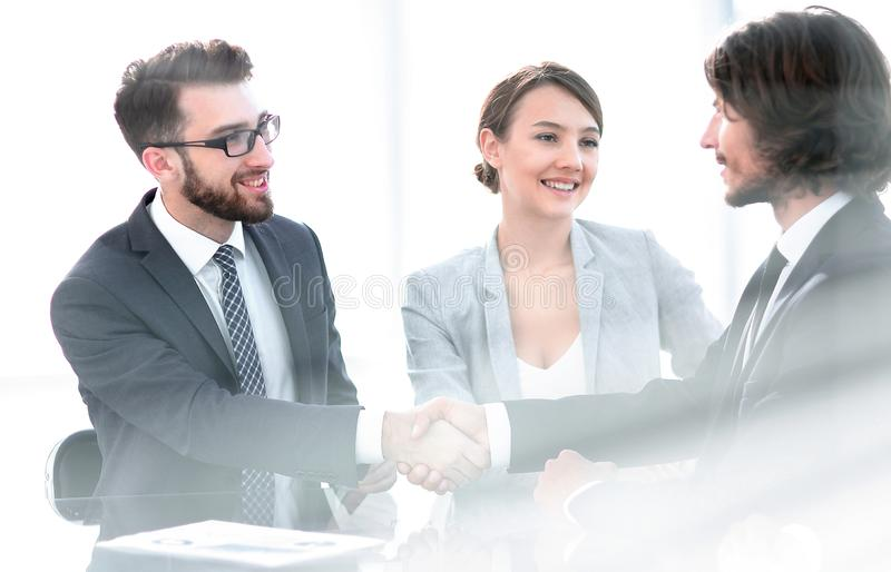 Handshake of business partners.business background royalty free stock images