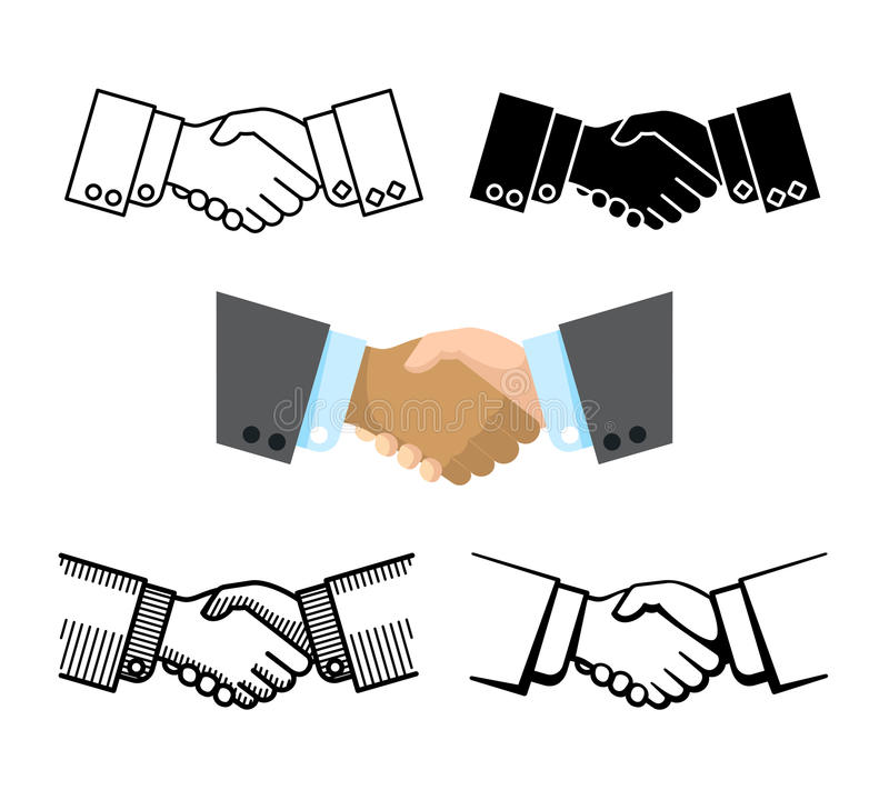 Handshake, business partnership, agreement vector icons vector illustration