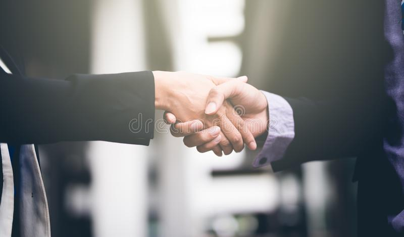 Handshake of business People Colleagues Teamwork Meeting .Hold hand and shake hand. royalty free stock photos