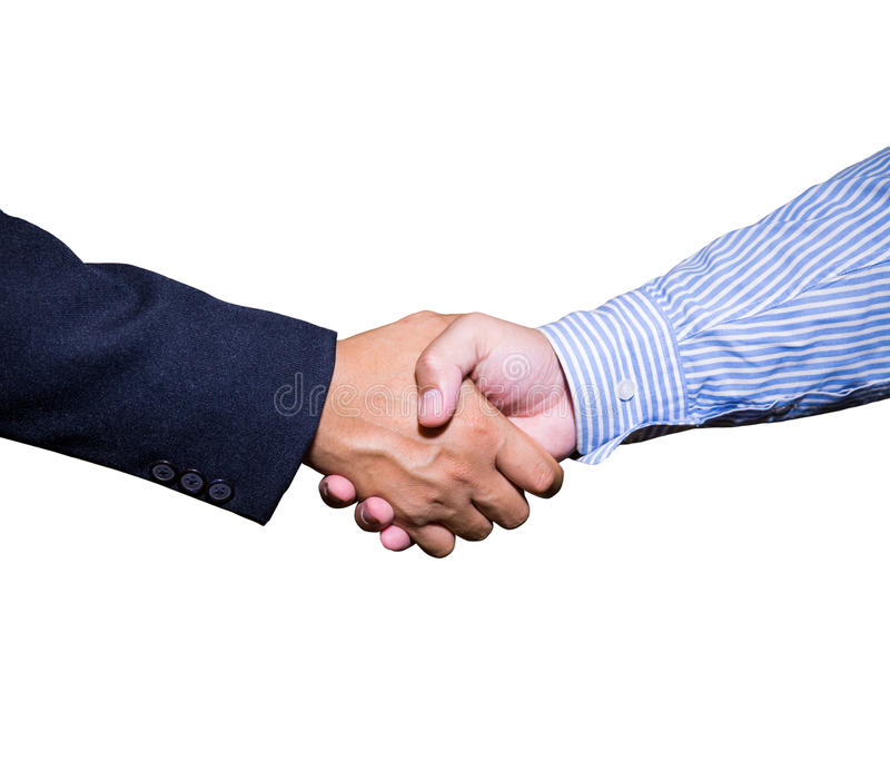 Handshake and business people concepts. stock images