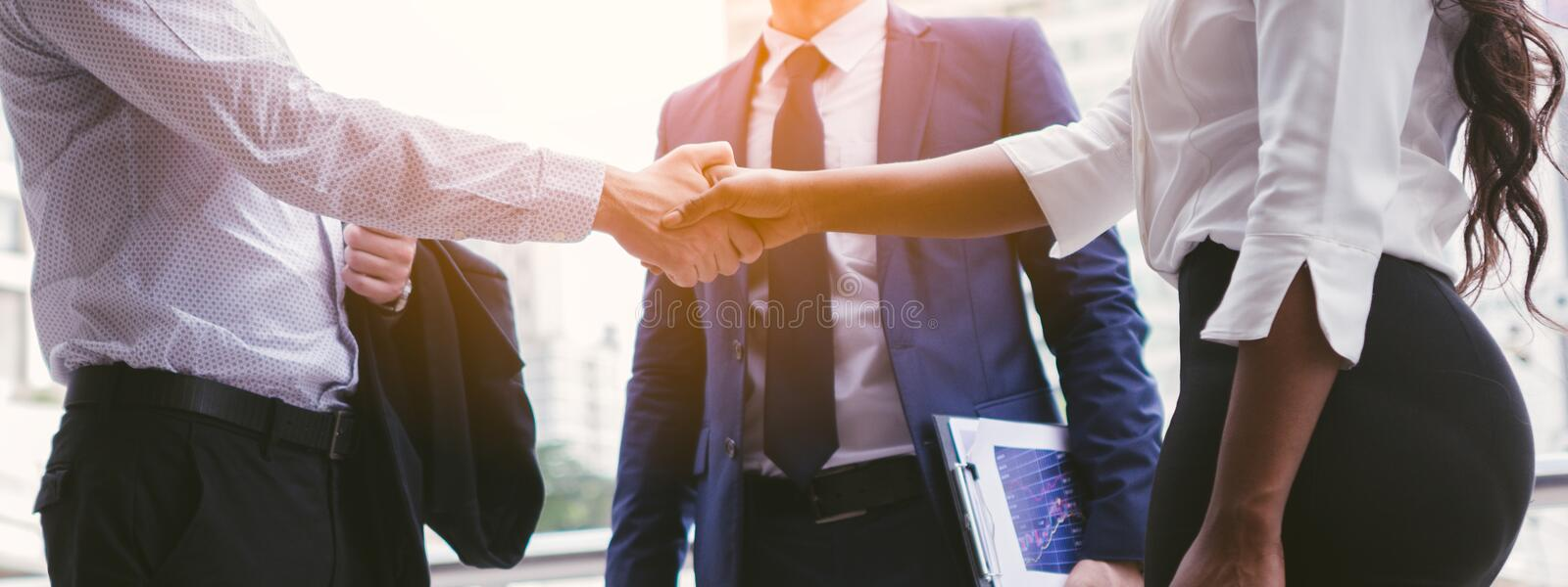 Handshake of business People deal business. royalty free stock photography