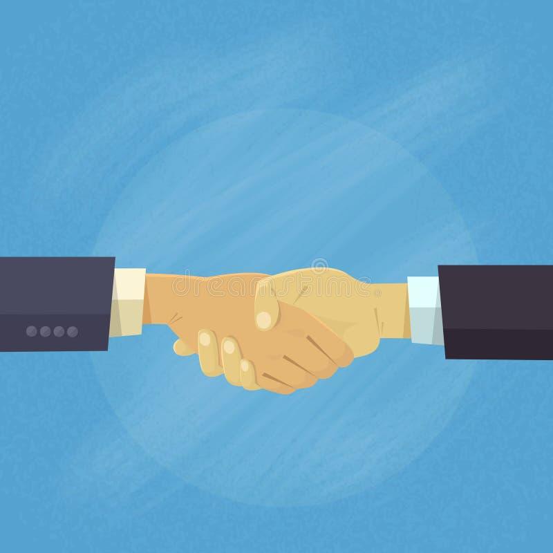 Handshake Business People Hands Shake Agreement Concept royalty free illustration
