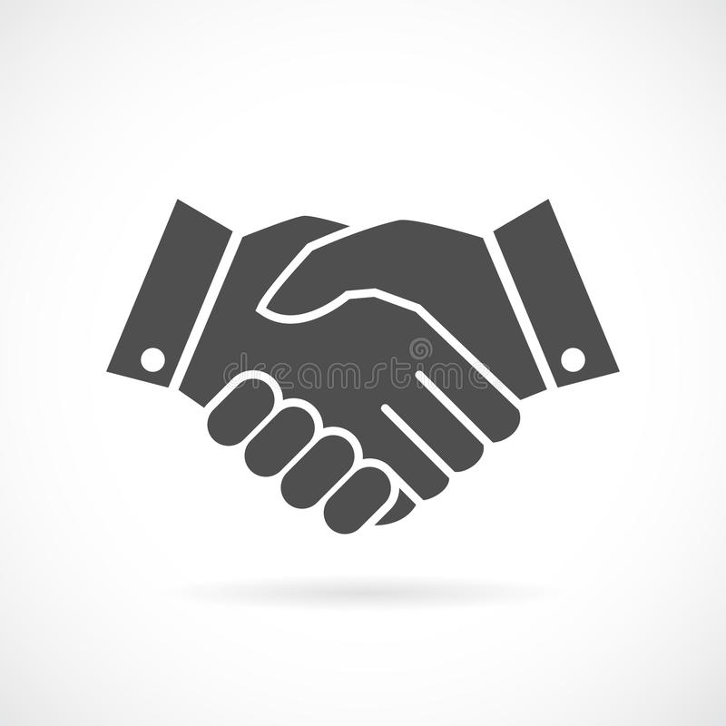 Handshake business vector icon royalty free illustration