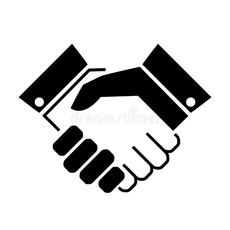 Handshake business vector icon vector illustration