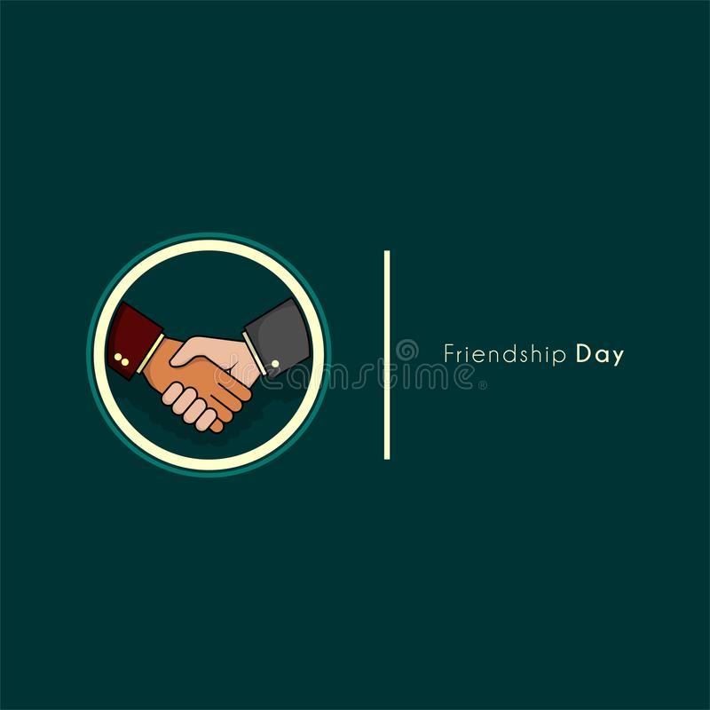 Handshake businessman vector design on friendship day royalty free illustration