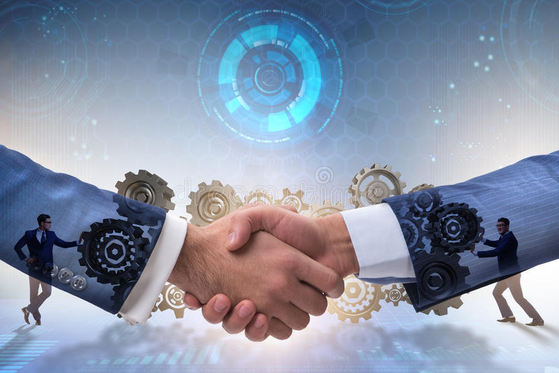 The handshake concept - business metaphor illustration. Handshake concept - business metaphor illustration royalty free stock photos