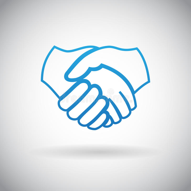 Handshake Cooperation Partnership Icon Symbol Sign Vector Illustration stock illustration