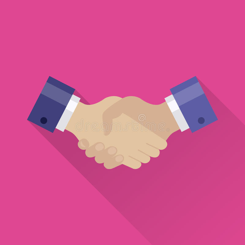 Handshake flat icon royalty free illustration