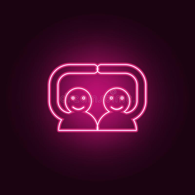 handshake friends icon. Elements of Conversation and Friendship in neon style icons. Simple icon for websites, web design, mobile vector illustration