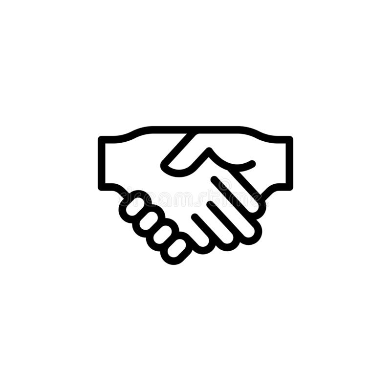 Handshake gesture outline icon. Element of hand gesture illustration icon. signs, symbols can be used for web, logo, mobile app,. UI, UX on white background stock photo