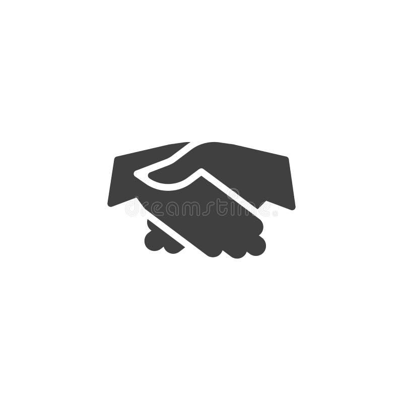 Handshake gesture vector icon. Friendship filled flat sign for mobile concept and web design. Partnership hands shaking glyph icon. Symbol, logo illustration stock illustration