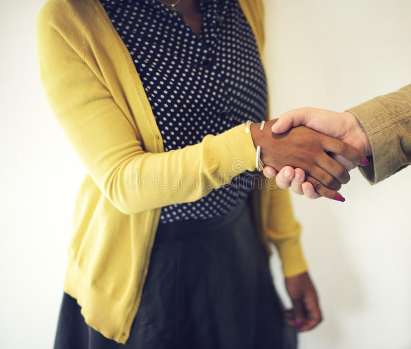 Handshake Gesturing People Connection Deal Concept.  stock images