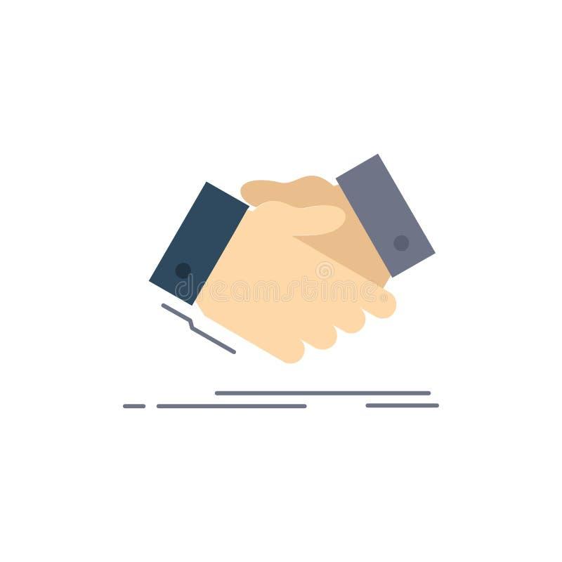 handshake, hand shake, shaking hand, Agreement, business Flat Color Icon Vector royalty free illustration
