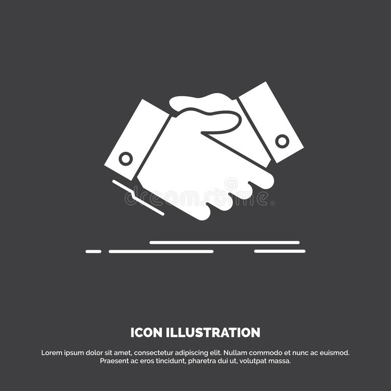 handshake, hand shake, shaking hand, Agreement, business Icon. glyph vector symbol for UI and UX, website or mobile application stock illustration