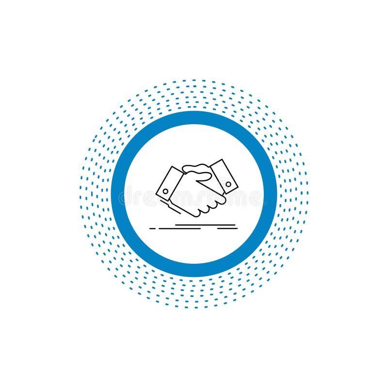 handshake, hand shake, shaking hand, Agreement, business Line Icon. Vector isolated illustration vector illustration