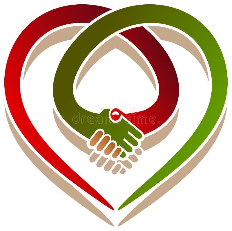 Handshake heart stock illustration