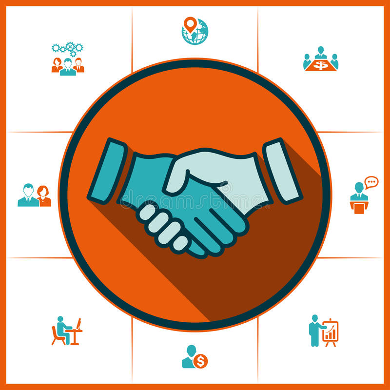 Handshake and human resources vector illustration