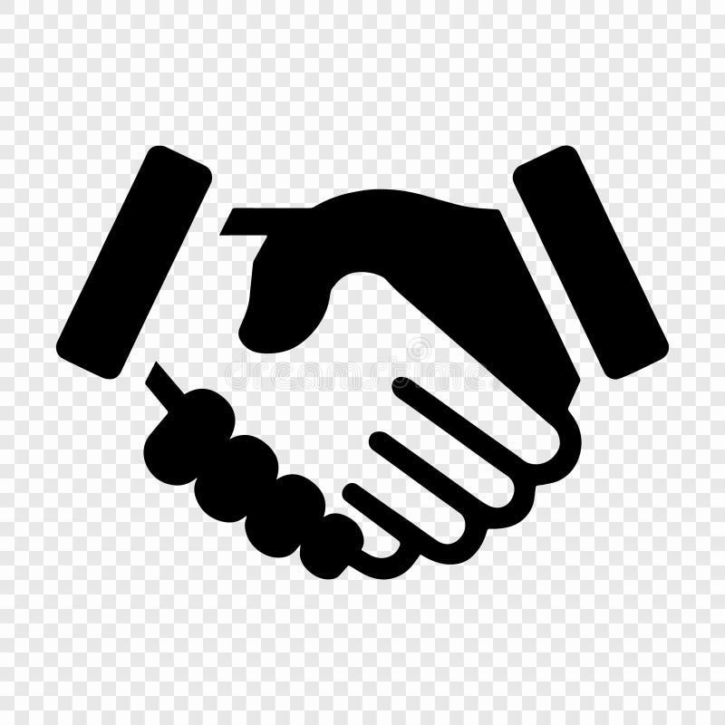 handshake icon stock illustration