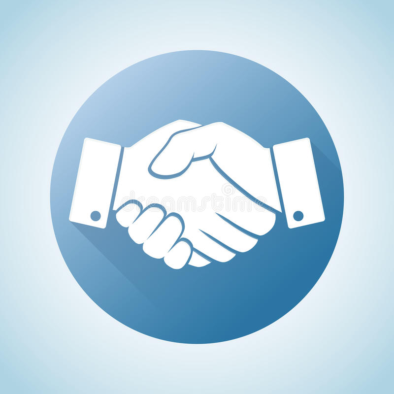 Handshake icon. Business and finance concept vector illustration