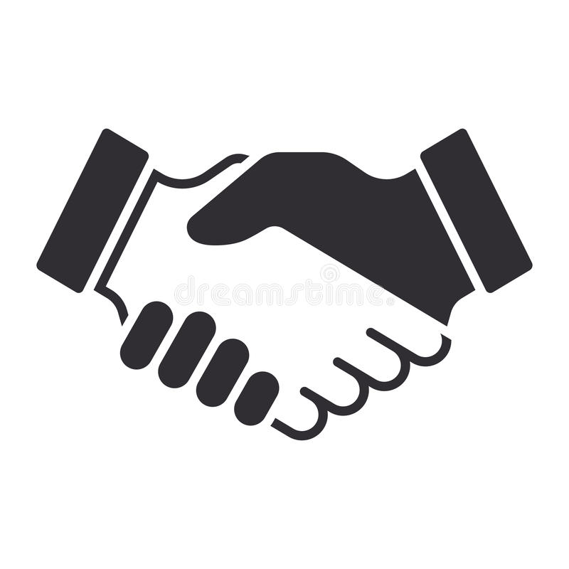 Handshake icon. Partnership and agreement symbol stock illustration