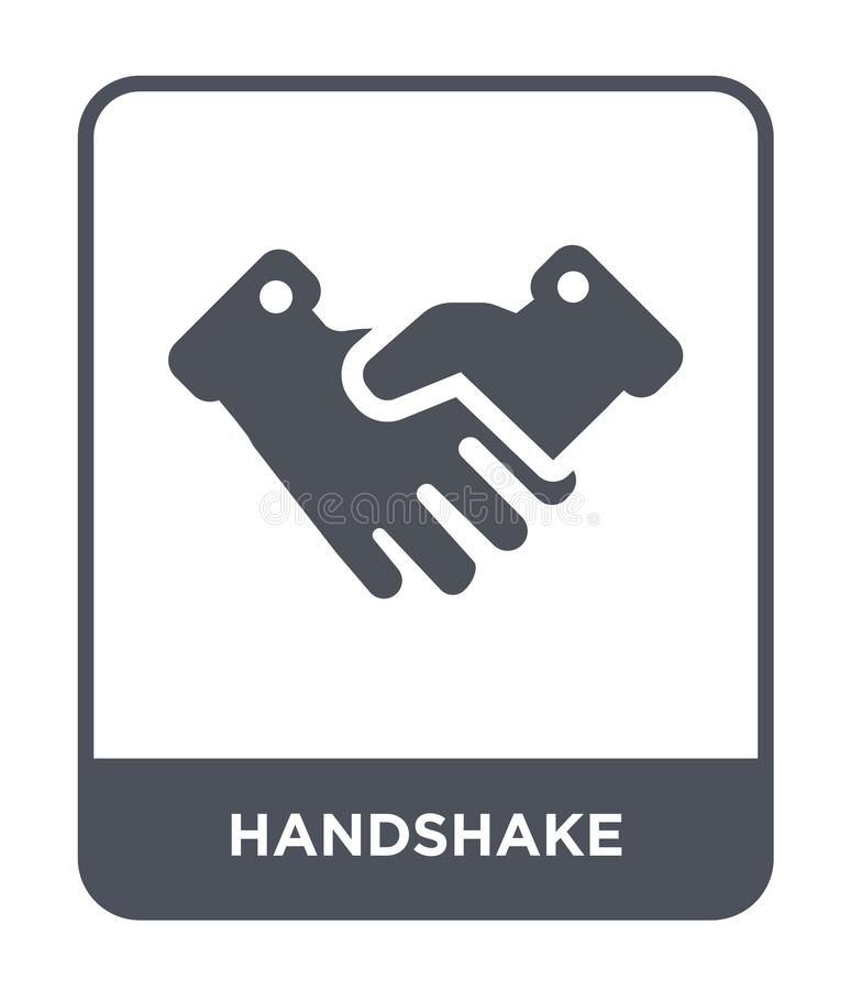Handshake icon in trendy design style. handshake icon isolated on white background. handshake vector icon simple and modern flat. Symbol for web site, mobile stock illustration