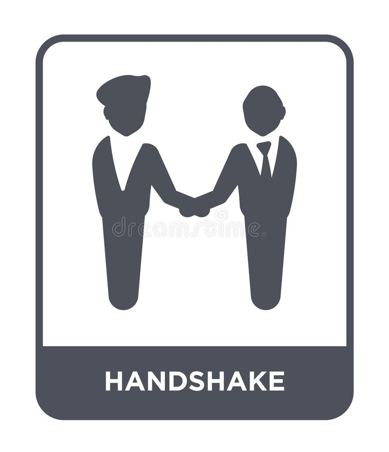 handshake icon in trendy design style. handshake icon isolated on white background. handshake vector icon simple and modern flat royalty free illustration