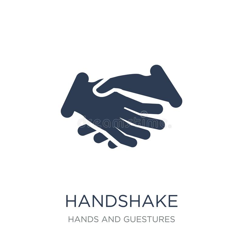 Handshake icon. Trendy flat vector Handshake icon on white background from Hands and guestures collection royalty free illustration