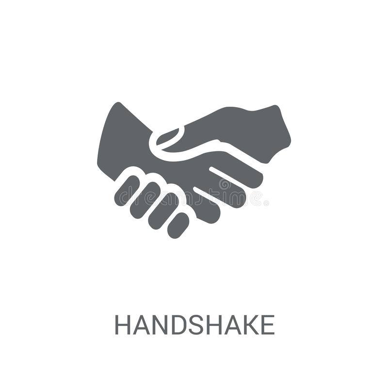 Handshake icon. Trendy Handshake logo concept on white background from Hands collection. Suitable for use on web apps, mobile apps and print media royalty free illustration