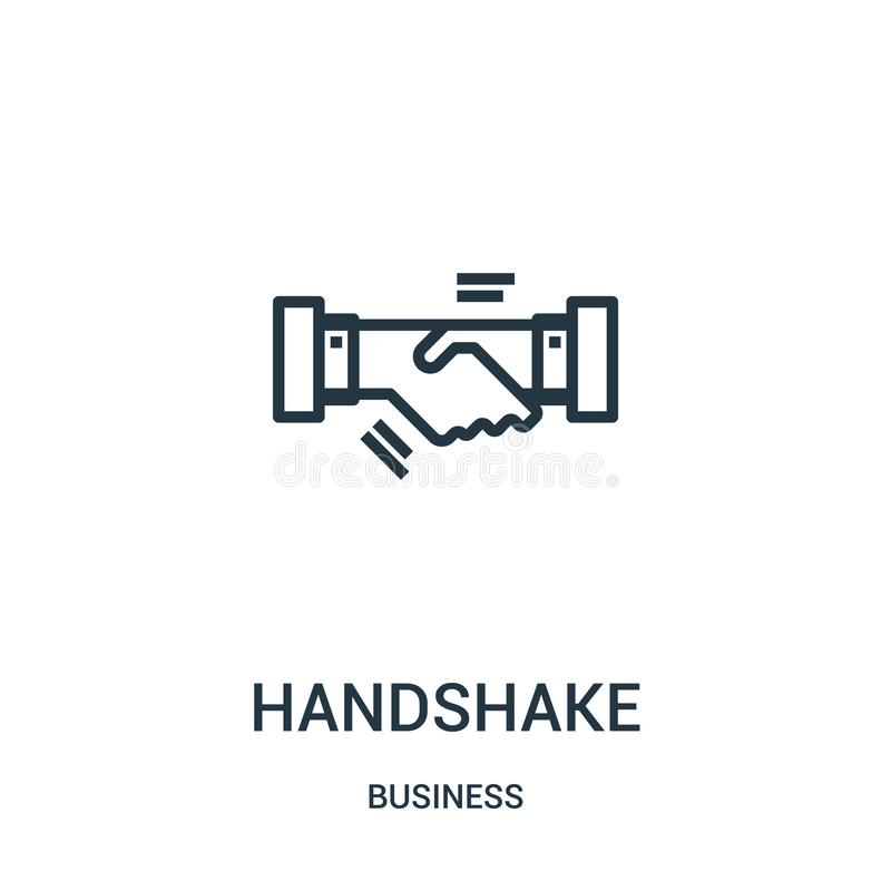Handshake icon vector from business collection. Thin line handshake outline icon vector illustration. Linear symbol for use on web. And mobile apps, logo, print vector illustration