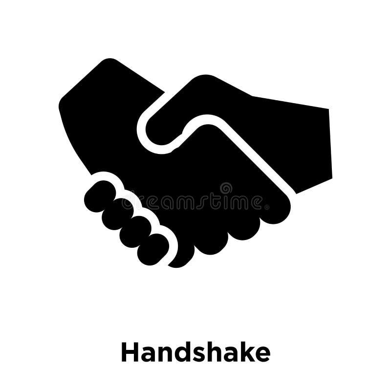Handshake icon vector isolated on white background, logo concept. Of Handshake sign on transparent background, filled black symbol royalty free illustration