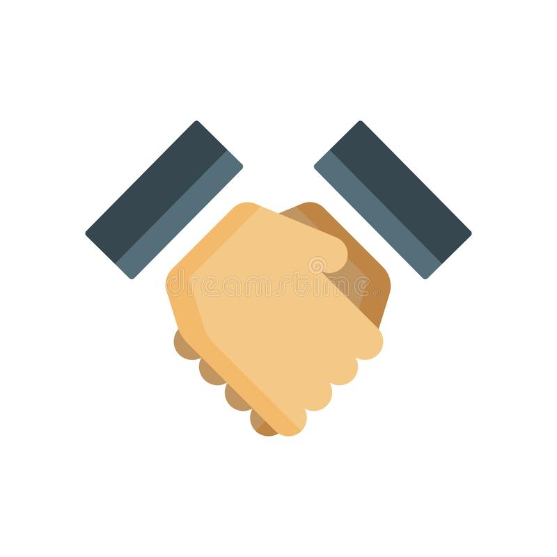 Handshake icon vector sign and symbol isolated on white background, Handshake logo concept vector illustration