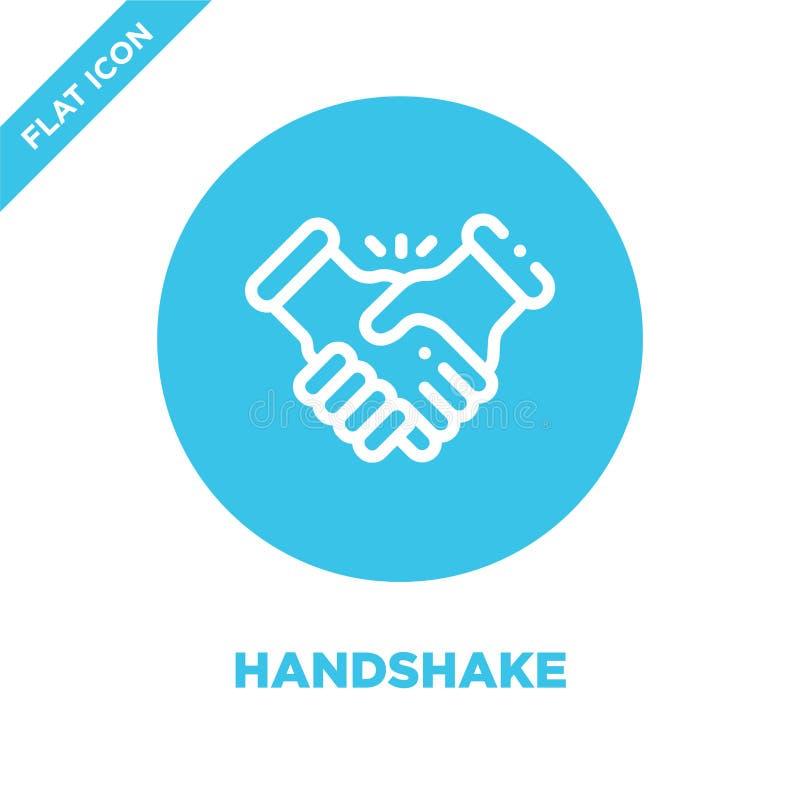 Handshake icon vector. Thin line handshake outline icon vector illustration.handshake symbol for use on web and mobile apps, logo. Print media royalty free illustration