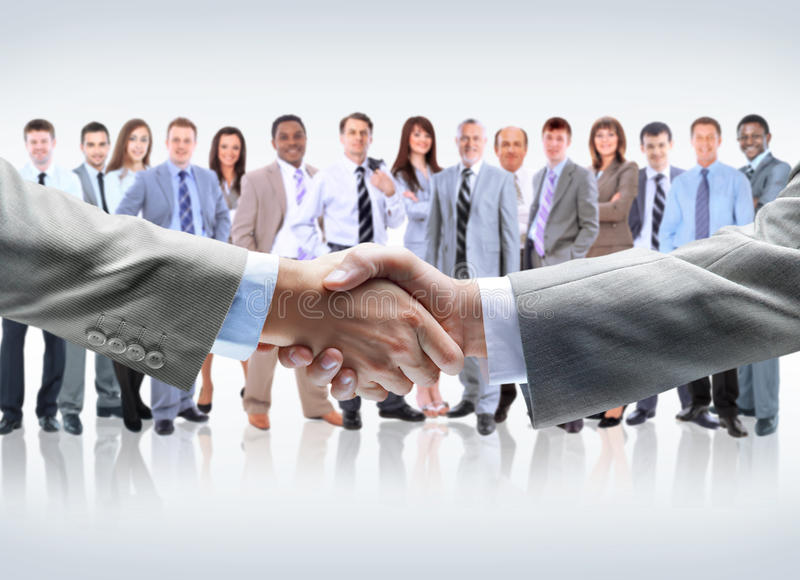 Download Handshake Isolated On Business Stock Photo - Image: 28235830