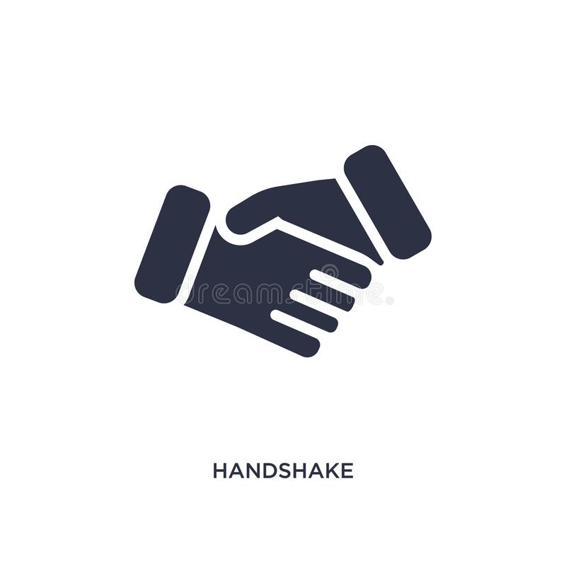 Handshake icon on white background. Simple element illustration from strategy concept. Handshake isolated icon. Simple element illustration from strategy concept vector illustration