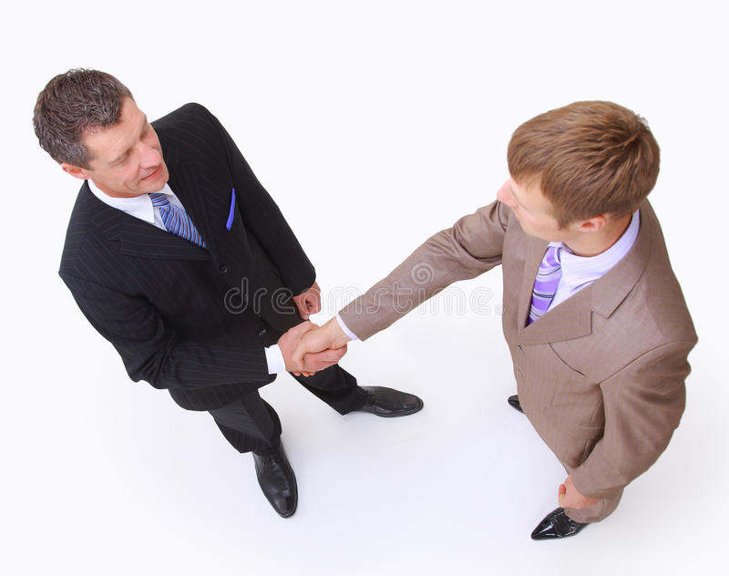 Download Handshake Isolated On White Stock Image - Image: 17807385