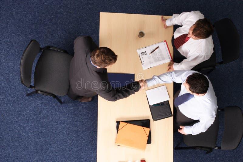 handshake, job interview stock image