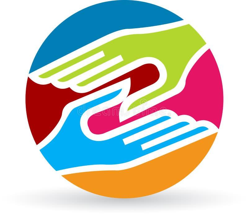 Handshake logo royalty free illustration