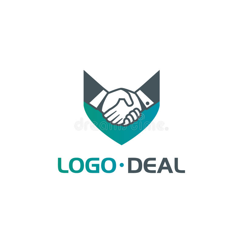 Handshake logo for business. Handshake logo. Vector logo useful for business related to contracts, deals, support, agreements, etc stock illustration
