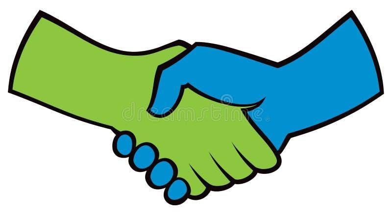 Handshake Logo Icon. An illustrated handshake logo icon royalty free illustration