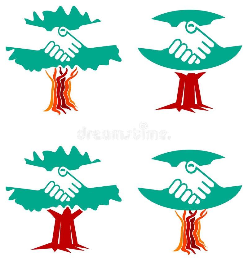 Handshake Logo Set Stock Photo
