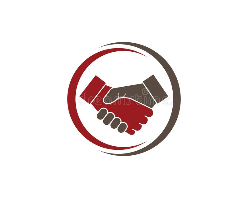 handshake logo vector icon of business vector illustration