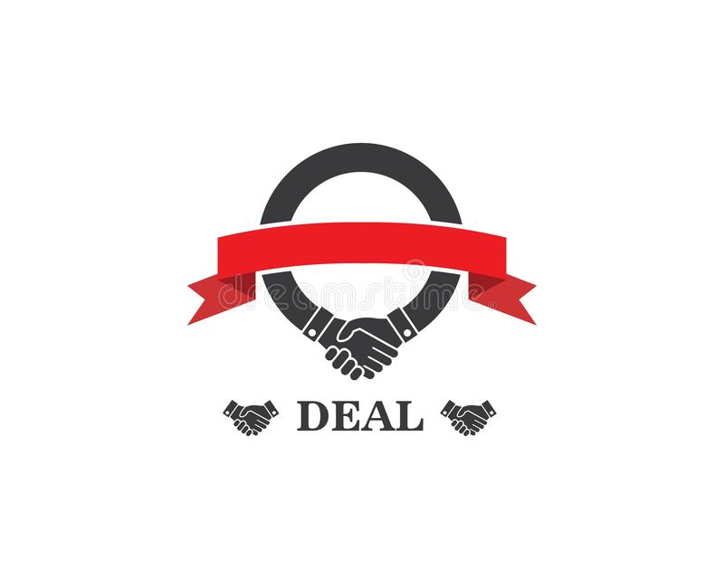 handshake logo vector icon of business agreement royalty free illustration