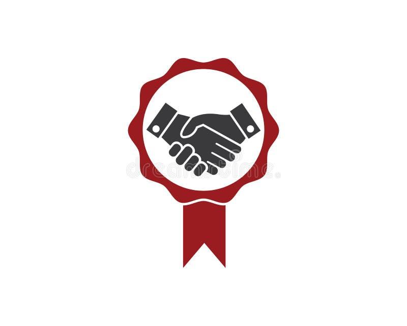 Handshake logo vector icon of business agreement. Design vector illustration