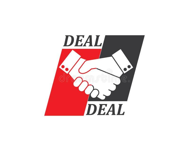 Handshake logo vector icon of business. Agreement design vector illustration