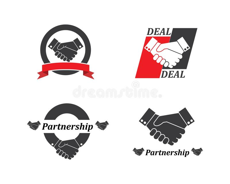 handshake logo vector icon of business royalty free illustration