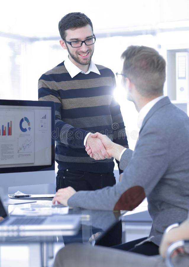 Handshake Manager and the client royalty free stock photography