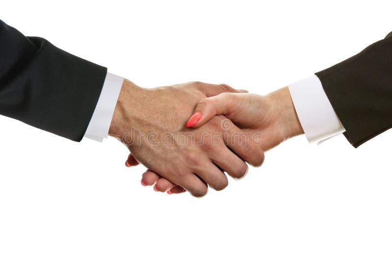 Handshake partners stock photos