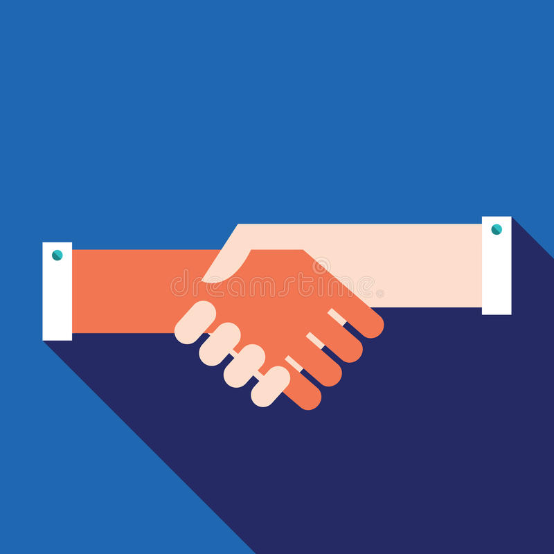 Handshake Partnership Successful business concept. Vector illustration royalty free illustration