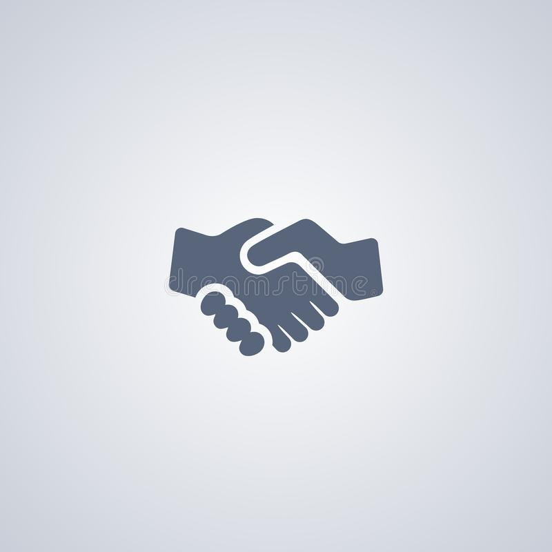 Handshake, partnership, vector best flat icon stock illustration