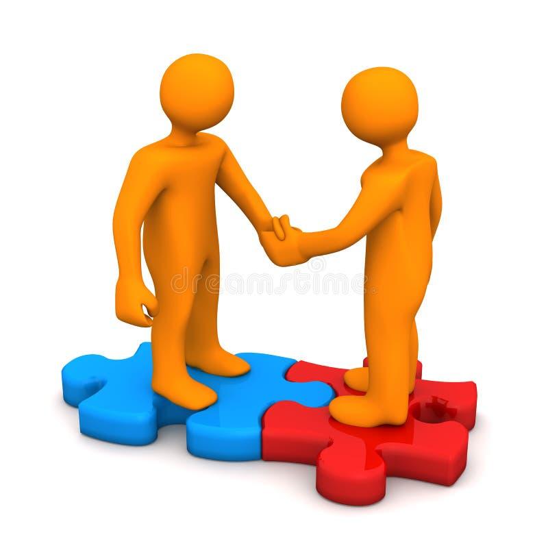 Handshake Puzzle vector illustration